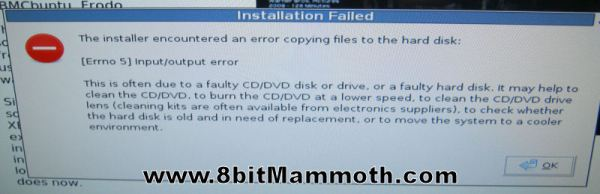XBMC Installation Failed