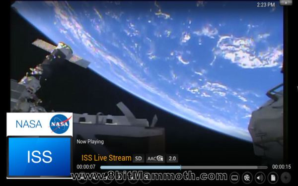 XBMC Nasa ISS Feed