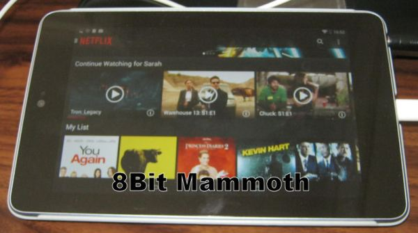 Netflix on a first generation Google Nexus 7