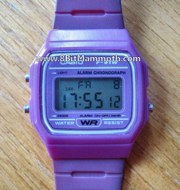 Casio F-91W Watch Face