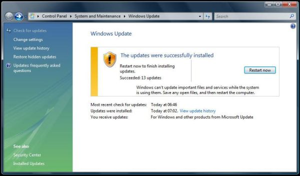 Windows Vista Update