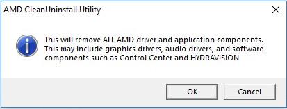 AMD CleanUninstall Utility remove