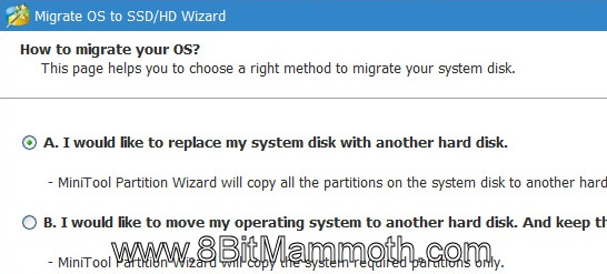Replace system disk