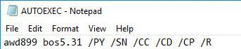 autoexec batch file