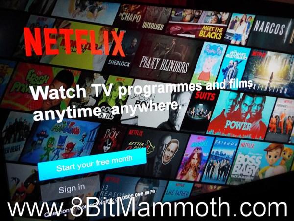 Netflix sign in screen