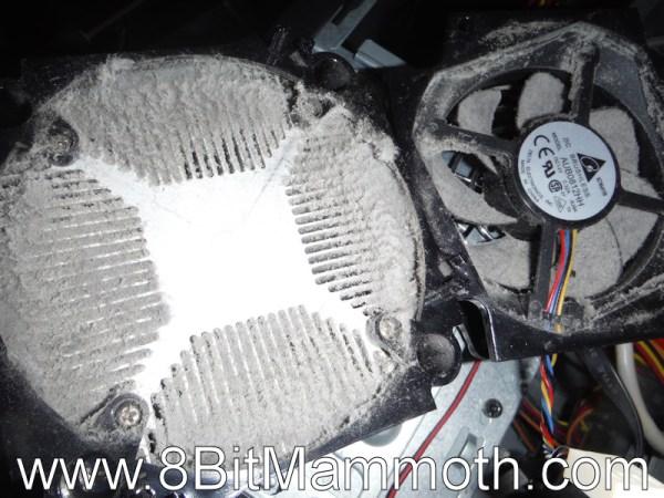 dusty heatsink and fan