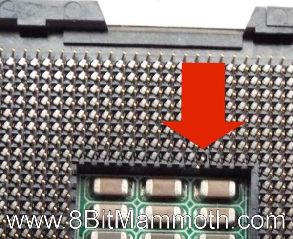 socket 775 bent pin