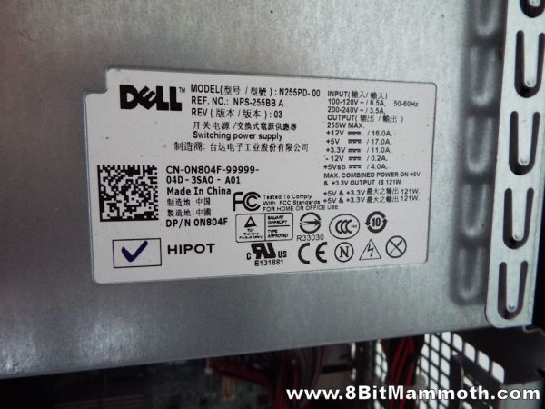 Dell Optiplex 380 Mini Tower Computer PSU