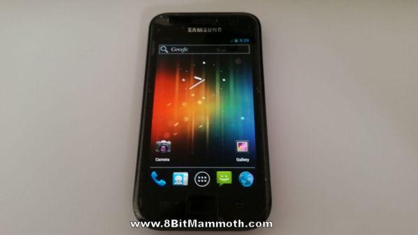 Mackay Android 4.0.4 main screen