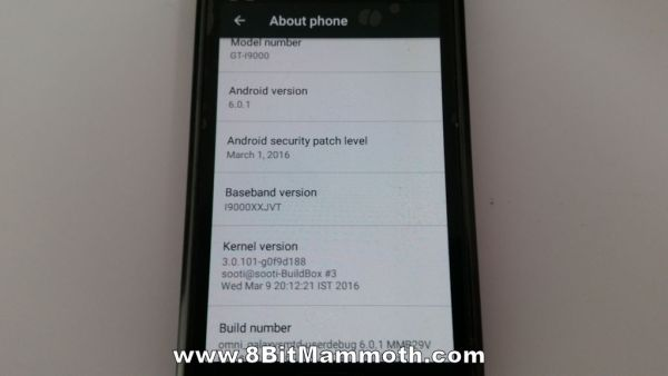 Omni 6.0.1 GT-I9000 info