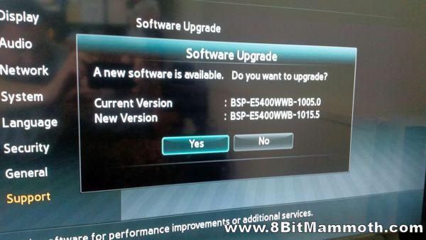 blu-ray player firmware upgrade