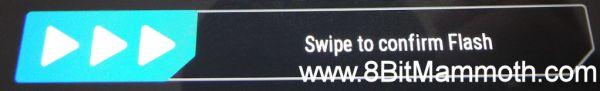Swipe to confirm Flash