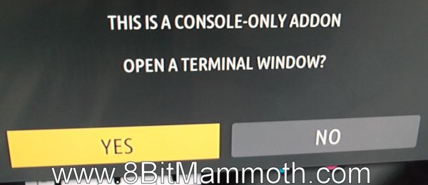 console-only addon