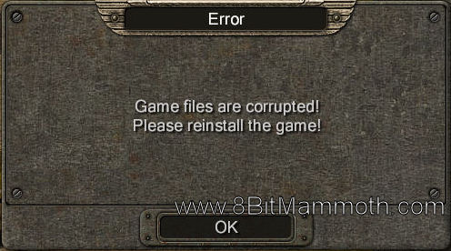 Game files are corrupted