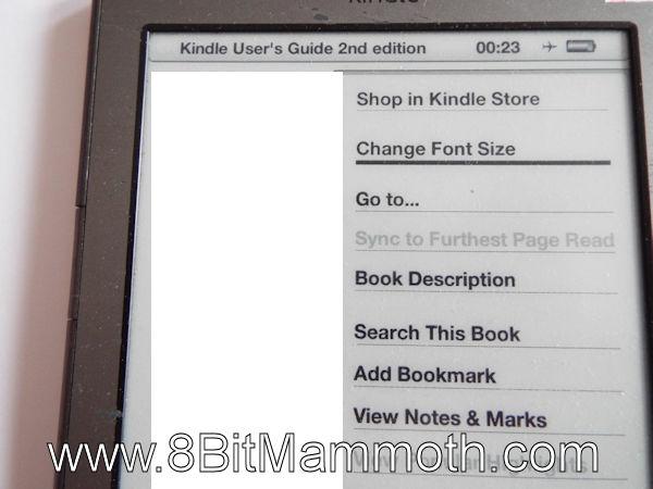 Kindle 4 Change Font Size