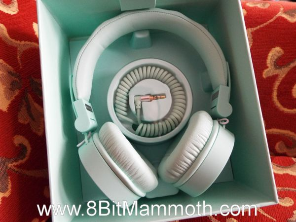 Photograph of headphones in a box