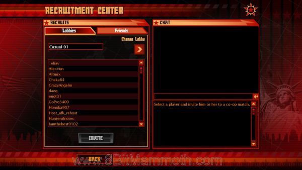 Red Alert 3 game lobby
