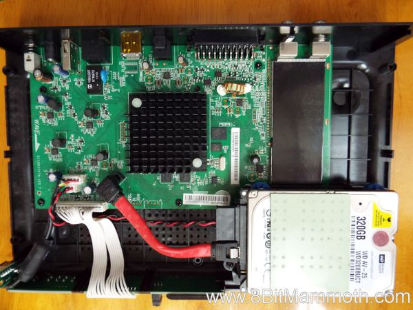 A photo showing the inside of a set top box