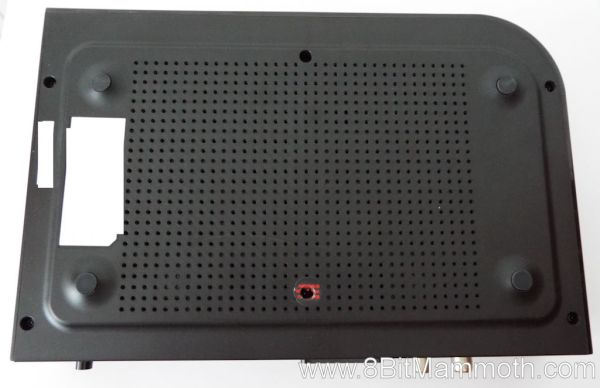 A photo showing the underneath of a set top box