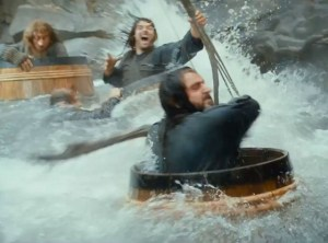 The Desolation of Smaug- barrel-riding