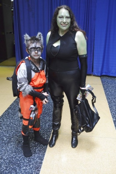 Number 2 - Gamora and Rocket (I love when families dress up together)