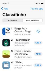 iTarga Pro Top 1 Settembre 2021