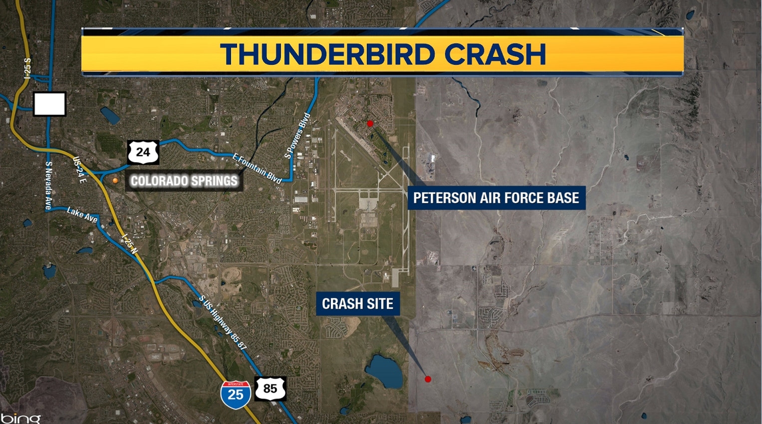 Air Force: Thunderbird jet crashes after flyover of academy