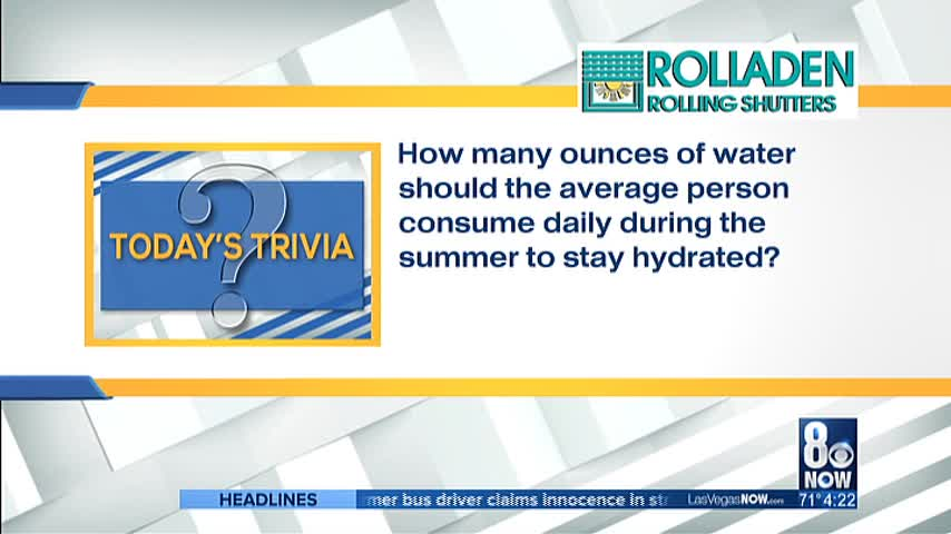 How many ounces of water should a person consume?