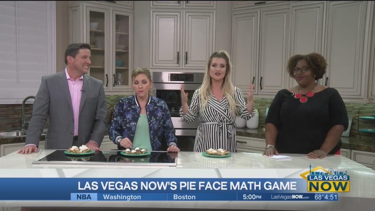 Las Vegas Now's pie face math game