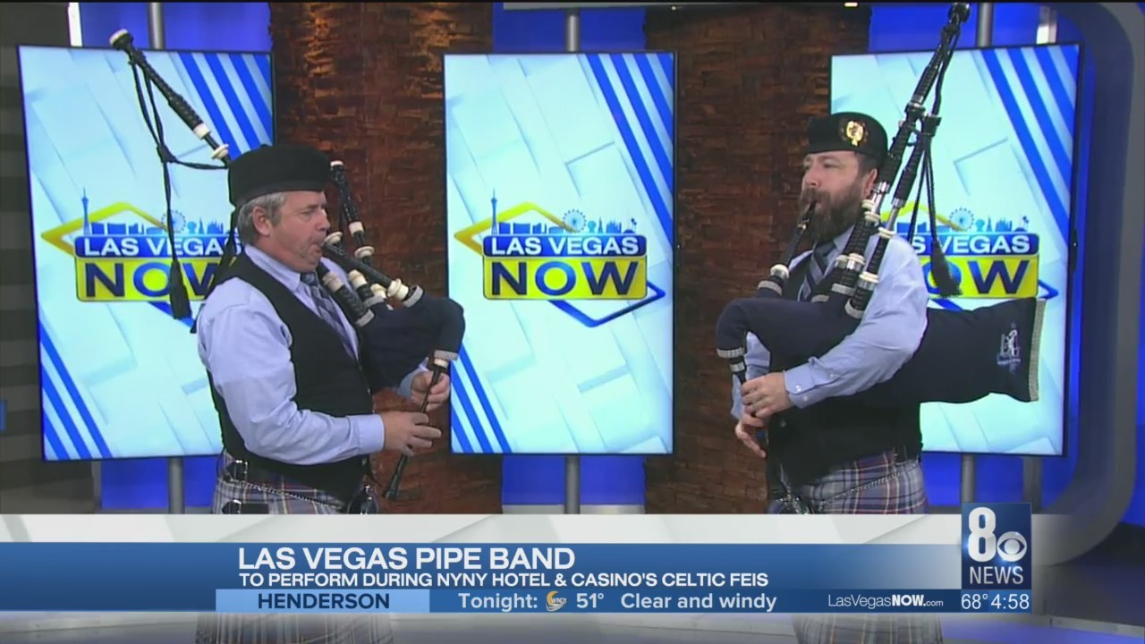 The Las Vegas Pipe Band signs off today's show