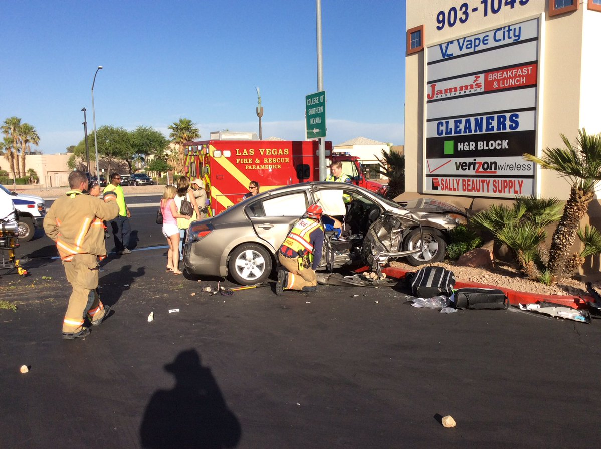 One dead in crash at Charleston and Rainbow