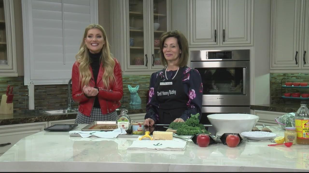 Chef Nanny Bubby prepares a simple Kale Salad