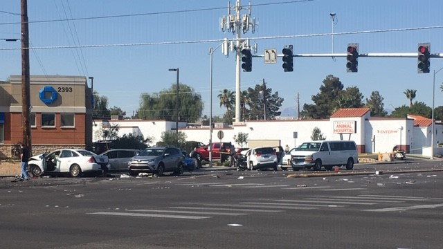 8 vehicles involved in fatal crash near Eastern, Tropicana