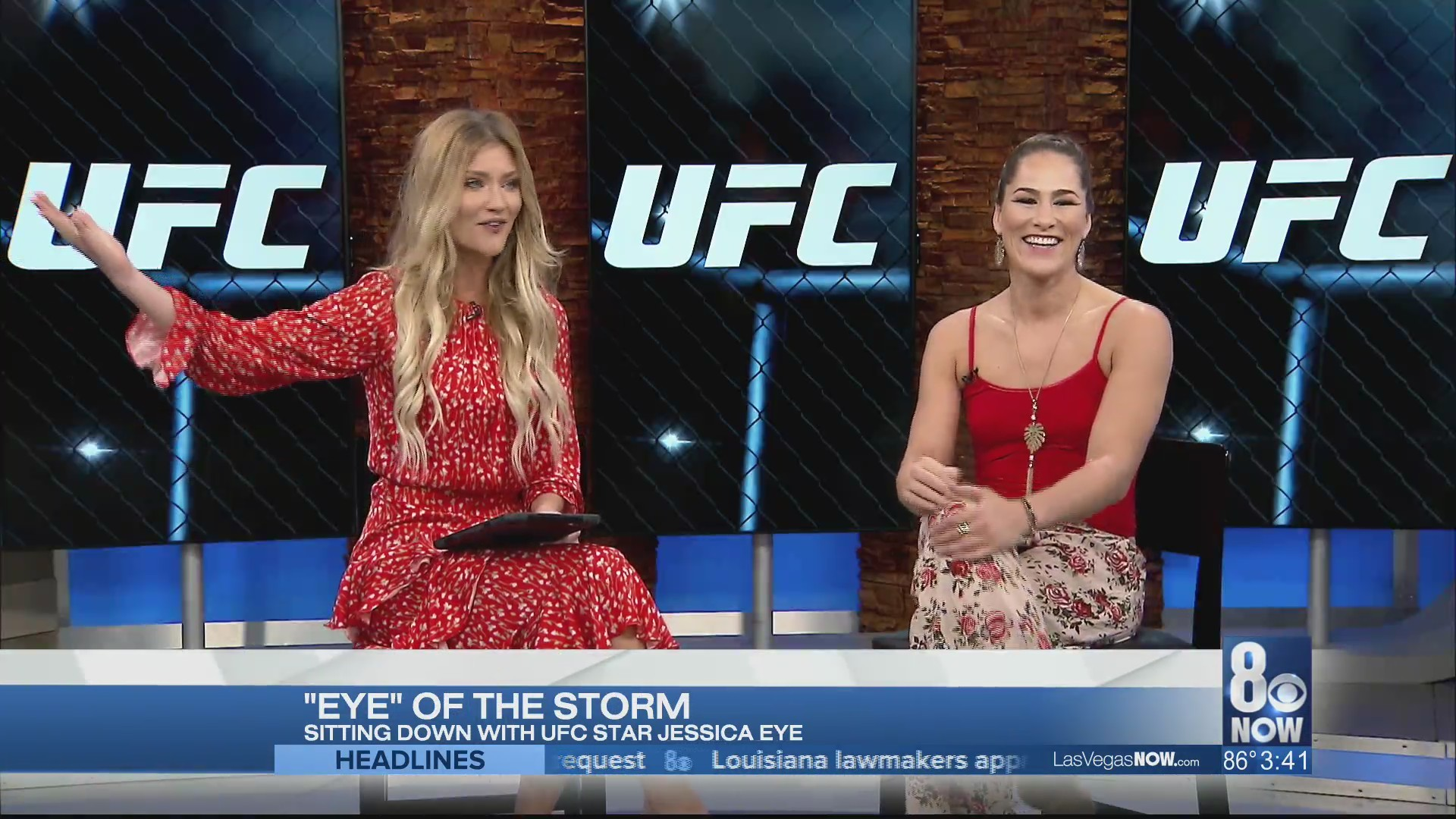 #1 ranked UFC fighter Jessica Eye visits Las Vegas Now