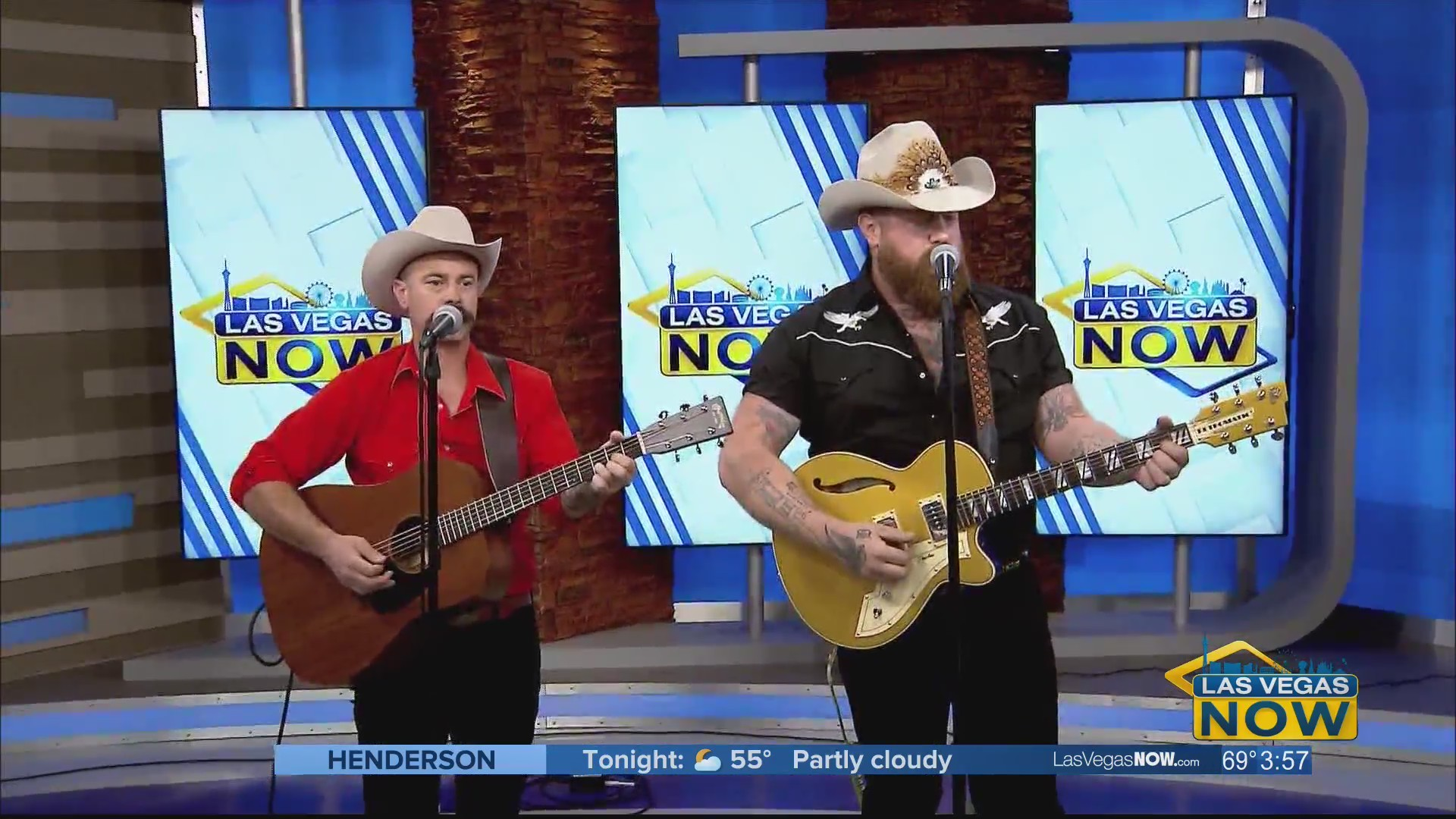 The Rhyolite Sound performs in studio