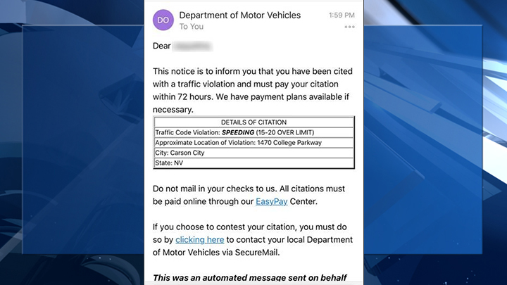 DMV warns against email scam | KLAS - 8 News Now