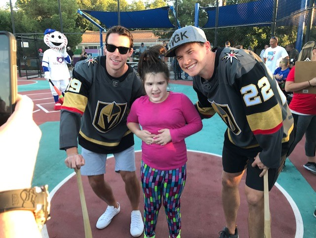 Golden Knights players at Miracle League fundraiser