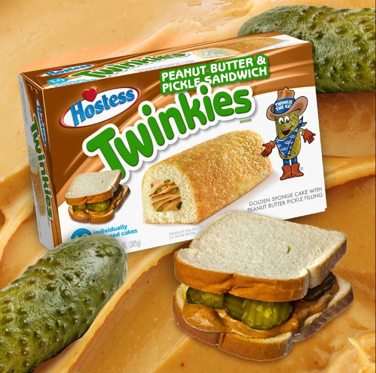 Hostess comes up with Peanut Butter and Pickle Sandwich Twinkies