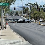1 dead, 7 others injured after driver runs red light at Pecos, Hacienda 💥😭😭💥