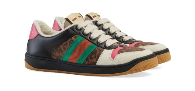 "Gucci Drops an Online Exclusive ""Leopard"" Screener Sneaker"