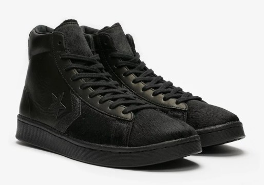 Converse Pro Leather Mid Black Pony Hair