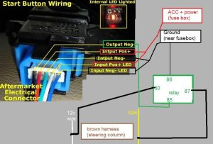 CTR Push start button DIY install wpics and wiring