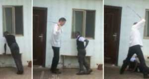 Chinese employer lashes his African employees for reporting to work late (video)