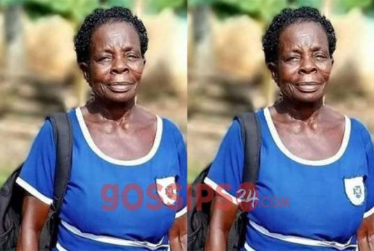 Meet Elizabeth Yamoah - 60-year-old woman writing 2020 BECE.