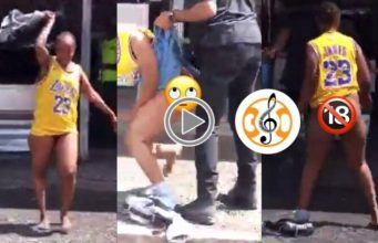 Watch Video: Slay Queen Runs Mad After Getting Out Of A Hotel, ₦Ak£D With Sakawa Boy.
