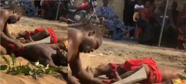 Photos Of Two Powerful Juju Men Butchering Themselves Surface On-line