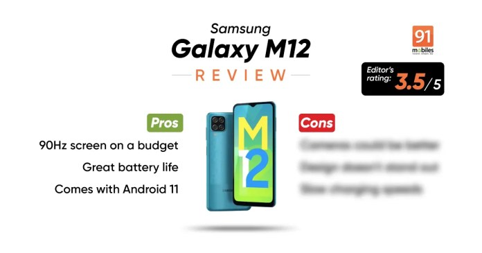 Samsung Galaxy M12 Review 90hz On A Budget