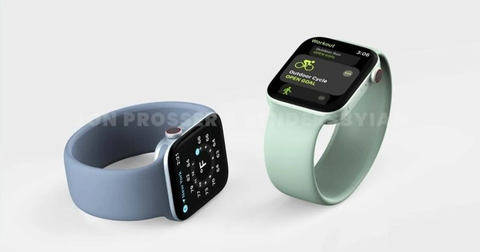 Apple Watch Series 7 renders suggest major redesign: flat edges, new  colours, and more | 91mobiles.com