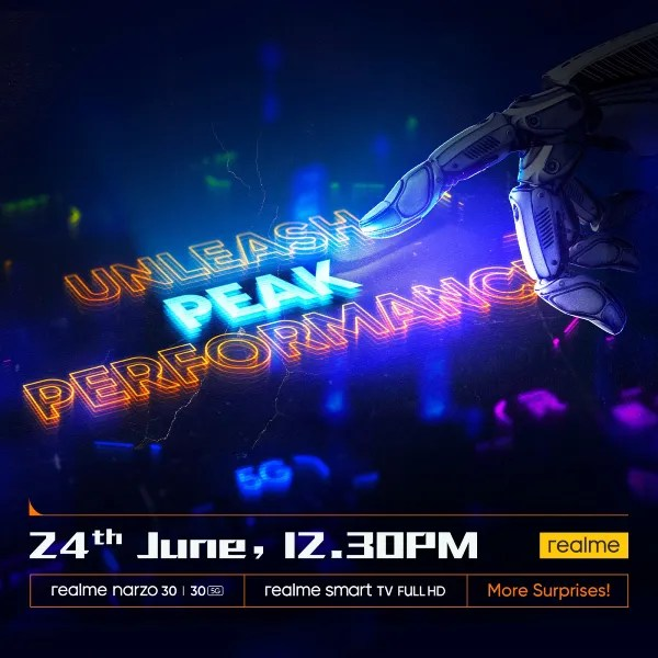 Realme Narzo 30 launch date