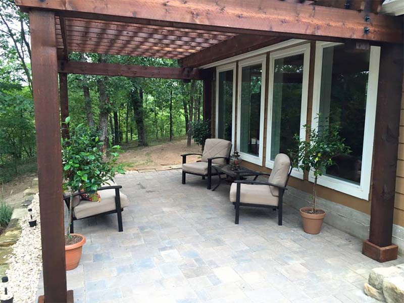 build a pergola attached to your house